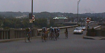 1998 - Espoirs (U23) national road race - Cincinatti, OH. We rode up onto an interstate as part of the course. Loved it.