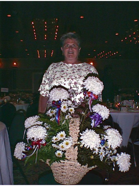 1998 - flowers for Carol, our SECCC coordinating official, during the nationals award ceremony banquet