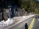 Melting icicles alongside the Clingman's Dome access road