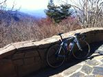 My bike at the Waterrock Knob 6,000 ft overlook