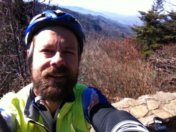 Me at the Waterrock Knob 6,000 ft overlook