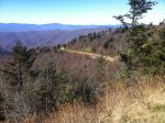 View from Waterrock overlooking looking down at the Blue Ridge Parkway descent back towards US19