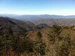 View from the waterrock knob overlook looking back towards Clingman's Dome (the North Carolina horizon)