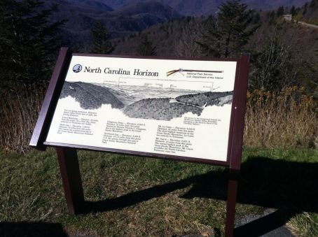 """The North Carolina Horizon"" is a perfect way to describe the view from Waterrock Knob looking back towards the NC/TN border, which is the crest of the ridge line"