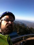 Self-portrait at the top of Clingman's Dome for the second time of the day