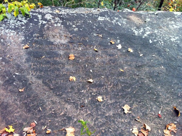 Lover's Leap inscription