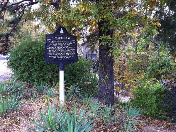 Lover's Leap informational sign