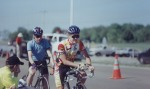 1997 - McMinnville time trial - shortly before the start, note the litespeed bike and the Lemond time trial bars