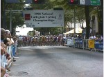 1998 - Collegiate National Criterium in downtown Greenville, SC - I won a points prime fairly early in the race and then finished towards the front of the field sprint