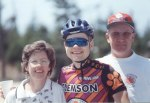 1997 - Assault on Mt Mitchell - me with my parents shortly after finishing 2nd to George Hincapie