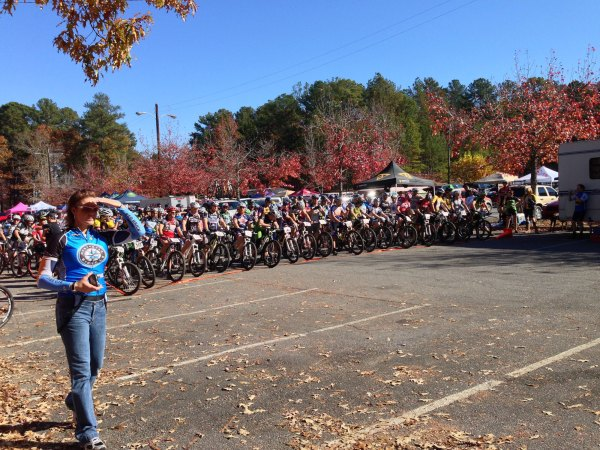 Everybody lined up at the start at 10AM