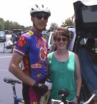 1998 - NC/SC time trial - my teammate Scott McDowell and his wife Rachel before the start