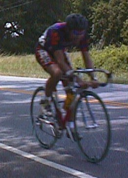 1998 - NC/SC time trial - my teammate Bert Hull on his homemade drop bars (probably winning or podiuming)