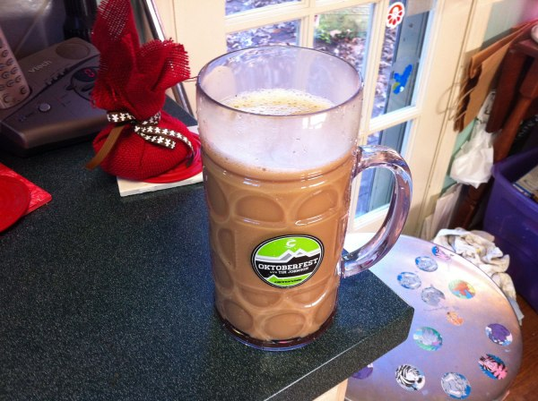 Starting the day off with 30+ oz of coffee in my strava oktoberfest mug