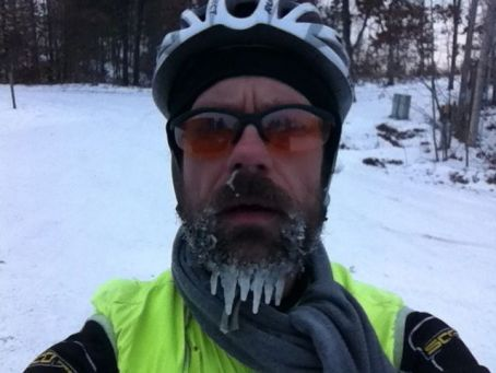 Long beardcicles including frozen snot