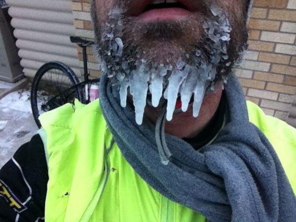 Long beardcicles - no frozen snot