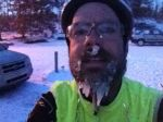 Long beardcicles and frozen snot after four hour ride with an average temp of 16 degF.