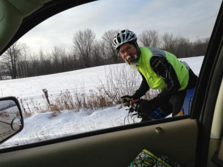 Kristine caught up to me near the very end of the ride and got this pic as we were pulling into Weyerhauser.
