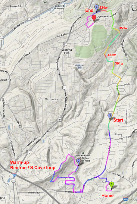 Vestavia Dr power map