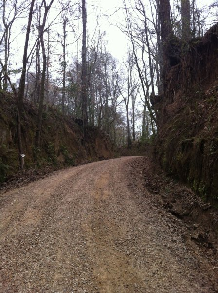 Might as well take a picture - since I had to stop and walk! (fourth gravel section, tunica hills)