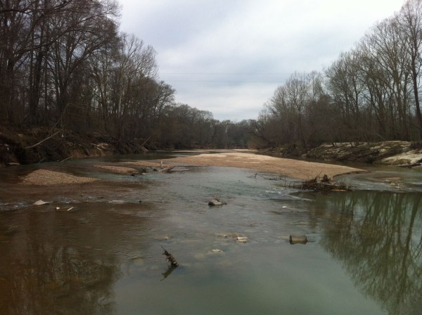 Creek under the low water bridge - feeds directly into the Mississippi just out of sight