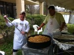 I look forward to this awesome spaghetti gumbo jambalaya each year