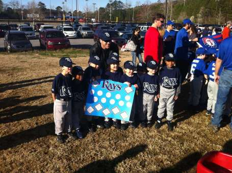 Josiah with his team before the parade began