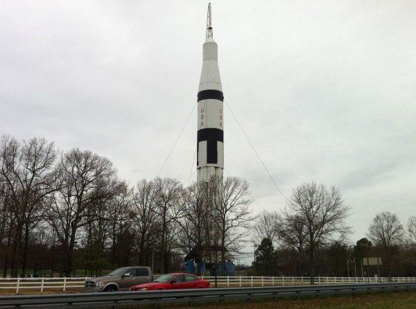 "The ""Welcome to Alabama"" rocket on the Tennesse border."