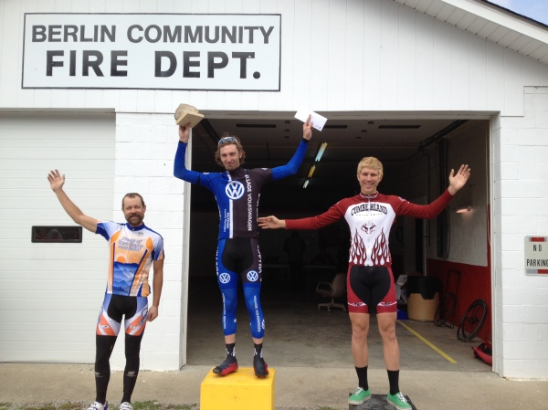 Hell of the South 2013 Pro/1/2 podium - Me, AJ Meyer, Tommy Schubert