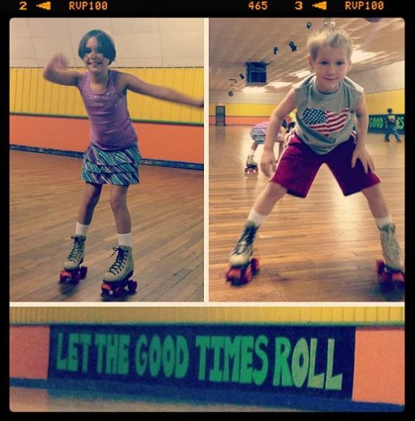 Kristine took the kids roller skating while I was doing my time trial.