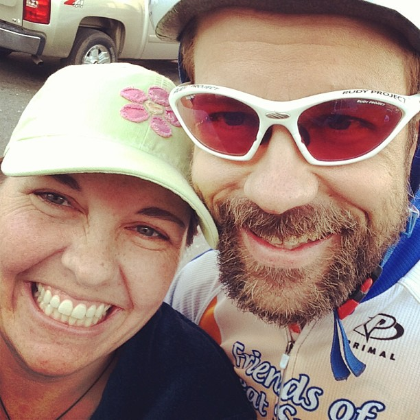 Me and Kristine before the start of the 2013 Sunny King criterium