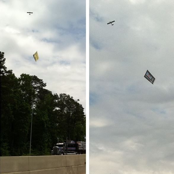 Cycling will have made it when they start flying ad planes on the course. On the drive past talladega today.