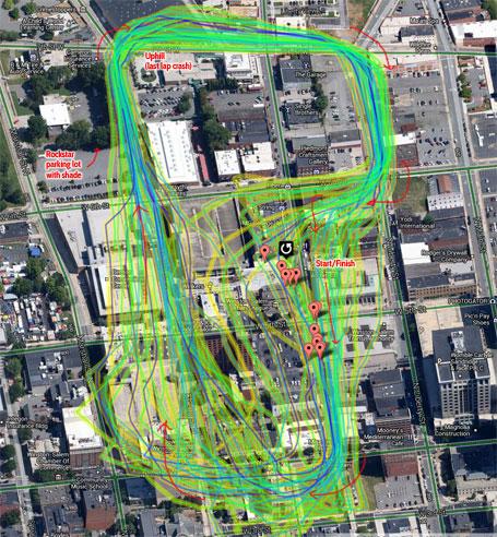 Winston-Salem downtown criterium map (click to enlarge)