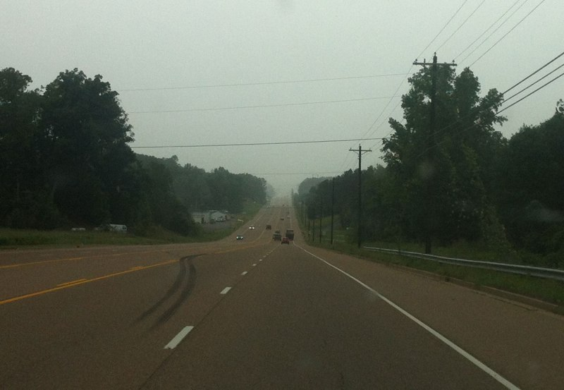 Just I arrived in Jackson, TN the heavy rain started - it has been completely dry on the 4 hour drive until this point!