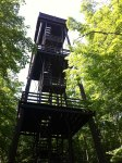 Tower at the top of a 150 ft climb from the boat landing - my kids are awesome bike riders!!