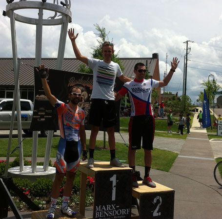 Pro/1/2 criterium podium - me, Nathan Brown, and Bryant Funston