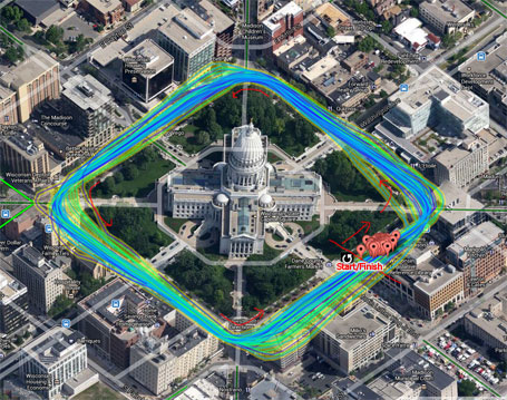 National criterium - Madison Capitol course power map (click to enlarge)