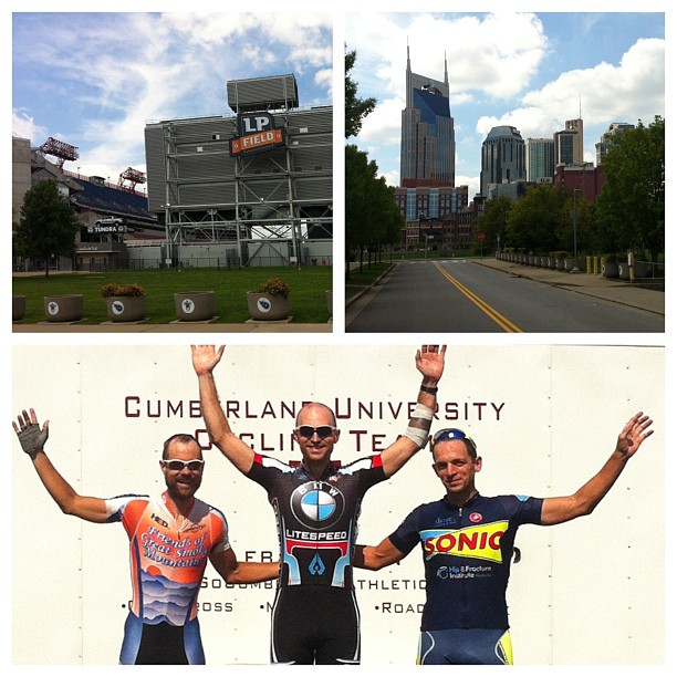 Podium picture plus pics from my warmup around LP Field