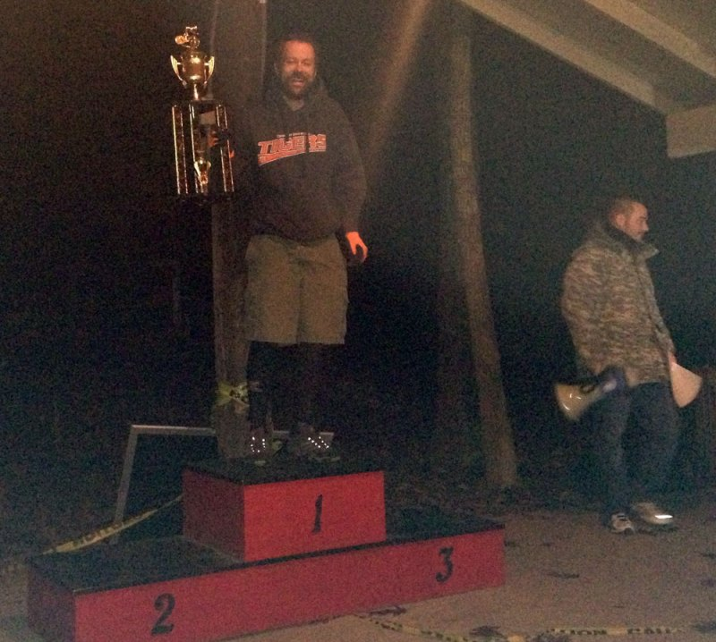 Oak Ass 100 mile mtb race - 1st place - with Kenny Griffin on the bullhorn