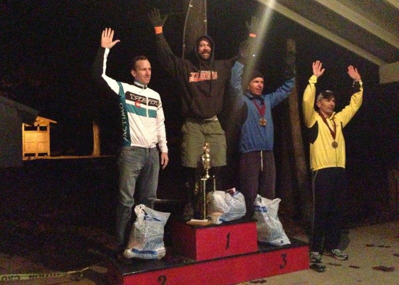 The inaugural oak ass 100 mile mtb race podium
