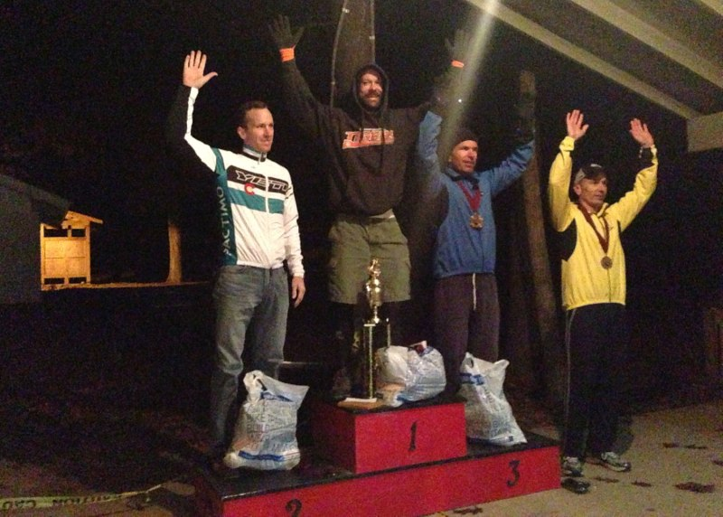 The inaugural oak ass 100 mile mtb race podium