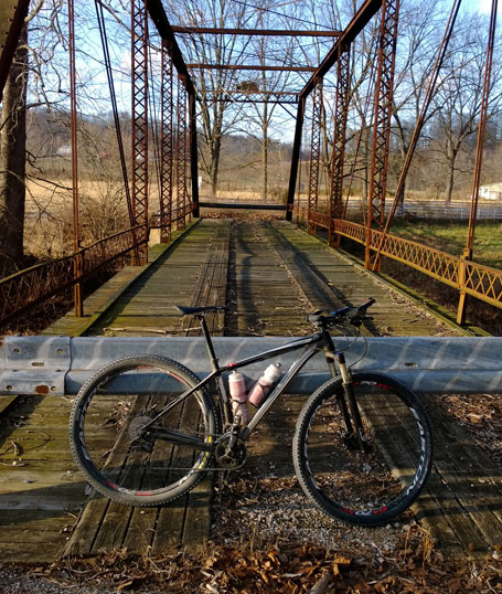 Final cyclocross barriers - an abandoned bridge half-mile from the finish