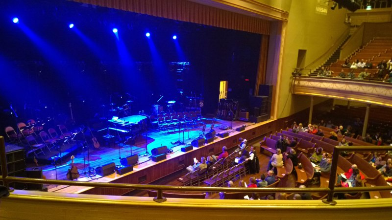 Waiting for the Behold the Lamb concert to start at the Ryman Auditorium in Nashville, TN