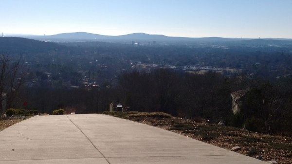 View of Huntsville from Hawks ridge on the shoulder of Monte Sano