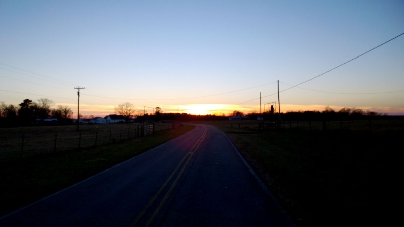 Sunset on Apple Grove road
