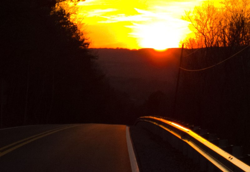 Sunset cool-down ride Tumblin Gap
