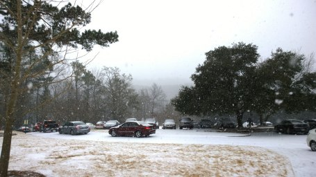 Tues, 1/28 @ 11:32AM - internal traffic. Lakeshore Dr is backed up so badly that traffic cannot even leave the parking lots on the Samford campus.
