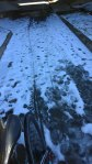 Fri, 1/31 @ 1:52PM - US Hwy 280 underpass snow. Crossing under US Hwy 280 on what surely must be one of the world's shortest bike paths at only 100 or so feet long, I encounter a lot of snow and leave some bike tracks.