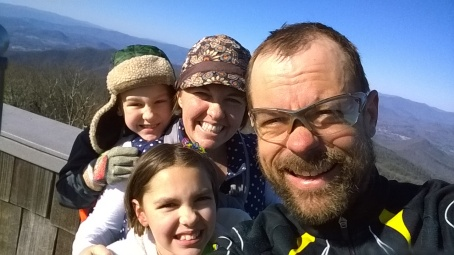 Family atop the Brasstown Bald lookout tower. I beat them to the top, but I did have a 3.5 hour head start.