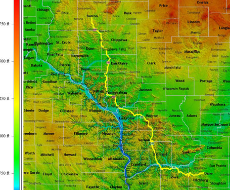 western wisconsin - topocreator counties